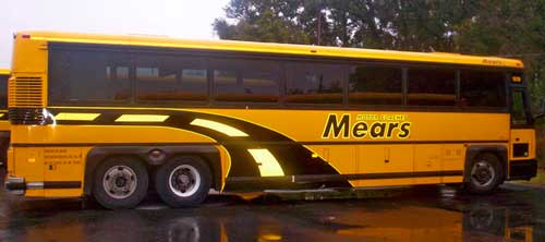 Reflective Vinyl Graphics: Bus Graphics with Reflective Vinyl Decal.