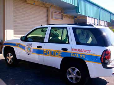 Reflective Vinyl Graphics: Printed Reflective Vinyl Decals on Emergency Vehicle.