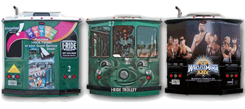Shadow Graphics Vehicle Wraps Orlando Trolley ADs and Wraps