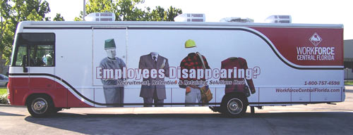 Vehicle Wraps: Workforce Central Florida Bus Wrap.