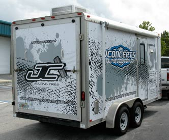 Vehicle Wraps: J Concepts trailer wrap side view.