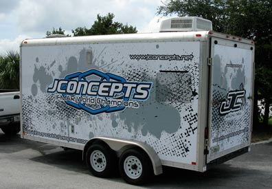 Vehicle Wraps: J Concepts Trailer Wrap.