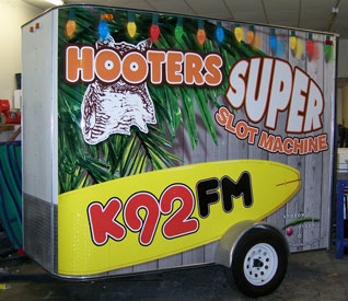 Vehicle Wraps: K92fm trailer wraps.