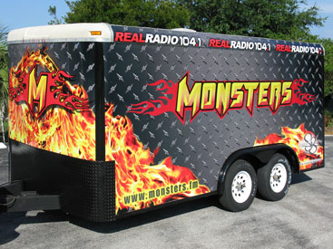 Vehicle Wraps: Monsters in the Morning Trailer Wrap with Reflective Vinyl Graphics