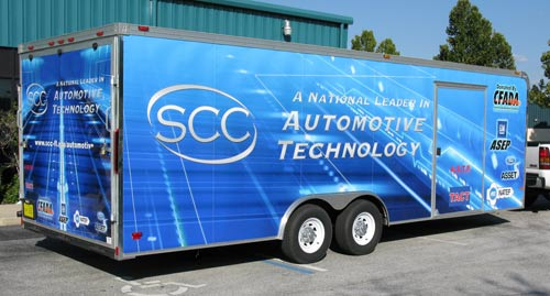 Vehicle Wraps: SCC Automotive Dept Trailer Wrap.
