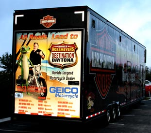 Vehicle Wraps: Harley Davidson Trailer with Reflective Wrap